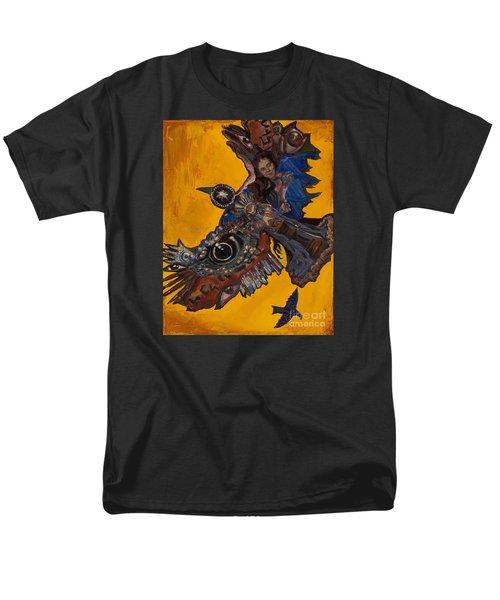 Yellow Crow Men's T-Shirt  (Regular Fit) by Emily McLaughlin