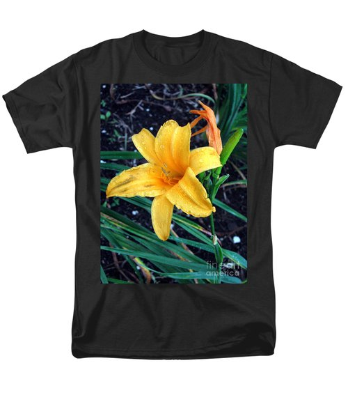 Yellow Flower Men's T-Shirt  (Regular Fit) by Sergey Lukashin