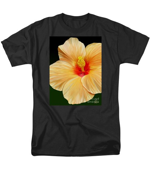 Men's T-Shirt  (Regular Fit) featuring the painting Yellow Hibiscus by Rand Herron