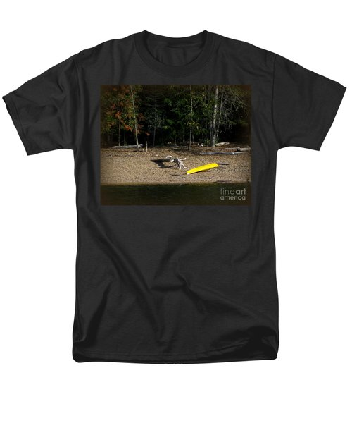 Yellow Kayak Men's T-Shirt  (Regular Fit) by Leone Lund