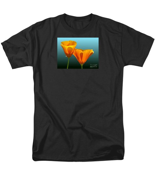 Men's T-Shirt  (Regular Fit) featuring the painting Yellow Poppies by Rand Herron