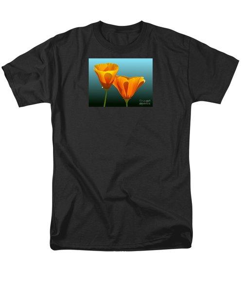 Yellow Poppies Men's T-Shirt  (Regular Fit) by Rand Herron