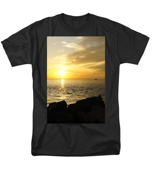 Men's T-Shirt  (Regular Fit) featuring the photograph Yellow Sky by Laurie Perry