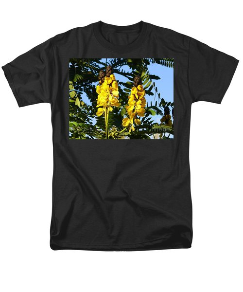 Men's T-Shirt  (Regular Fit) featuring the photograph Yellow Twins by Lew Davis