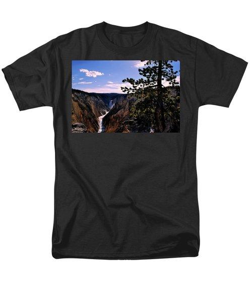 Yellowstone Waterfall Men's T-Shirt  (Regular Fit) by Matt Harang