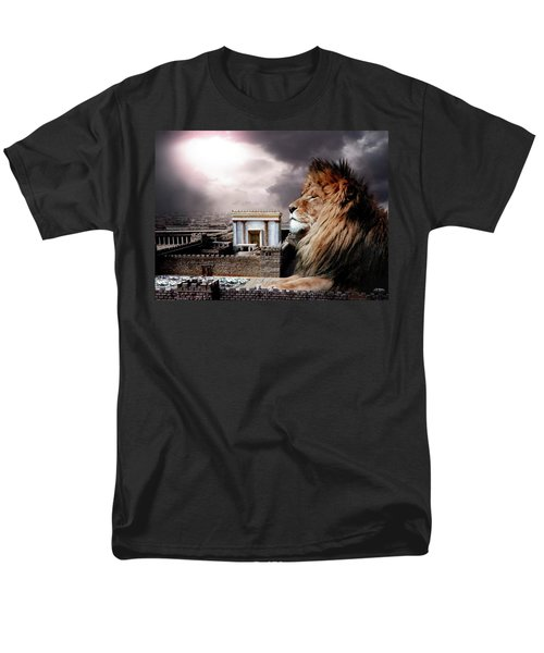 Yeshua In The Outer Court Men's T-Shirt  (Regular Fit) by Bill Stephens