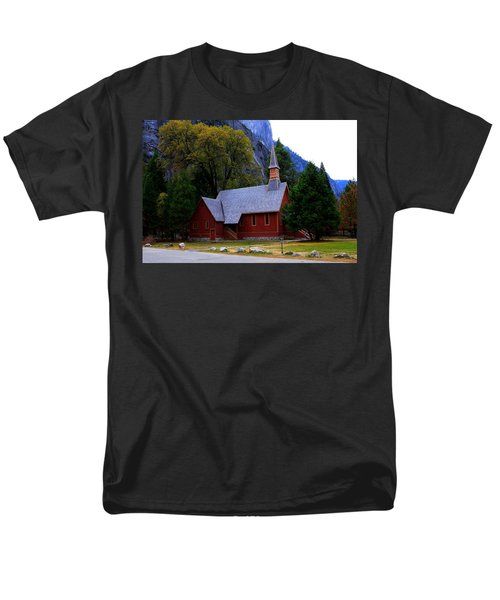 Yosemite Fall  Chapel  Men's T-Shirt  (Regular Fit) by Duncan Selby