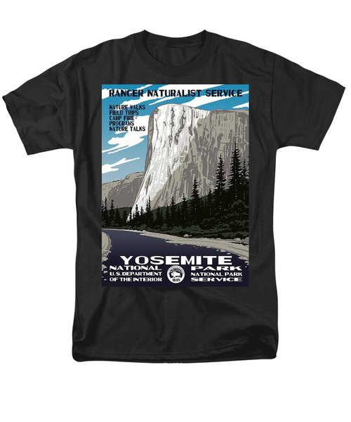 Yosemite National Park Vintage Poster 2 Men's T-Shirt  (Regular Fit) by Eric Glaser