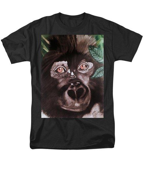 Young Gorilla Men's T-Shirt  (Regular Fit) by Renee Michelle Wenker