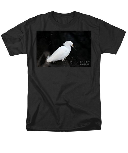 Young Snowy Egret Men's T-Shirt  (Regular Fit) by Susan Wiedmann