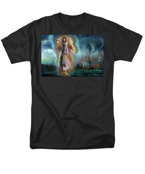 Yshuwh Yhwh Saves Men's T-Shirt  (Regular Fit) by Hidden  Mountain