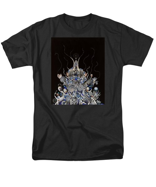 Men's T-Shirt  (Regular Fit) featuring the mixed media Zebratiki by Douglas Fromm