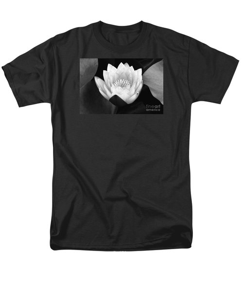 Men's T-Shirt  (Regular Fit) featuring the photograph Waterlily Rising  by John F Tsumas