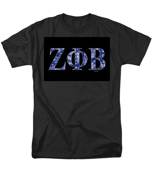 Zeta Phi Beta - Black Men's T-Shirt  (Regular Fit) by Stephen Younts