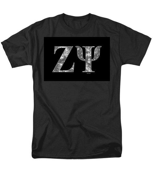 Zeta Psi - Black Men's T-Shirt  (Regular Fit) by Stephen Younts