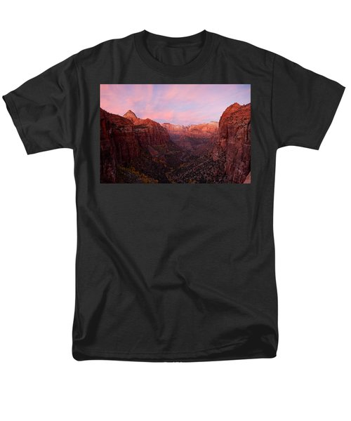 Zion Canyon At Sunset, Zion National Men's T-Shirt  (Regular Fit) by Panoramic Images