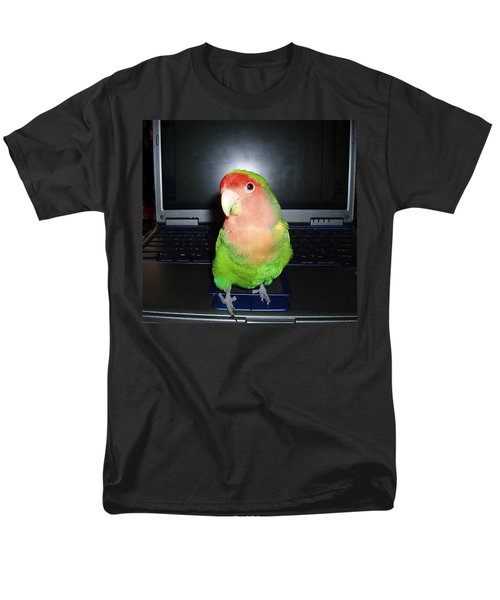 Men's T-Shirt  (Regular Fit) featuring the photograph Zippy The Lovebird by Joan Reese
