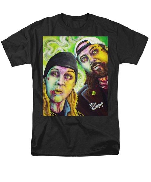 Zombie Jay And Silent Bob Men's T-Shirt  (Regular Fit) by Mike Vanderhoof