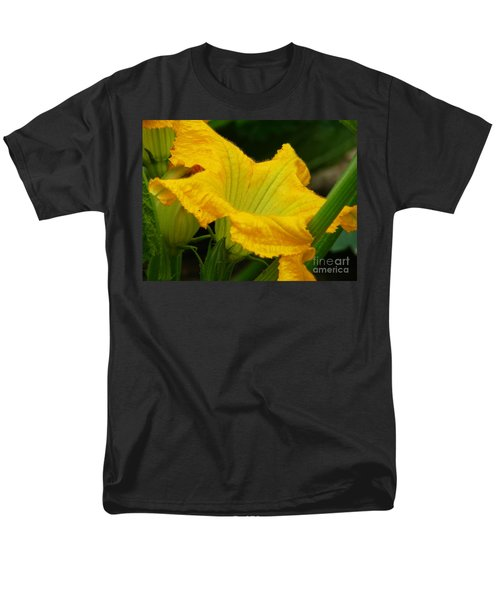 Men's T-Shirt  (Regular Fit) featuring the photograph Zucchini Yellow by Lew Davis