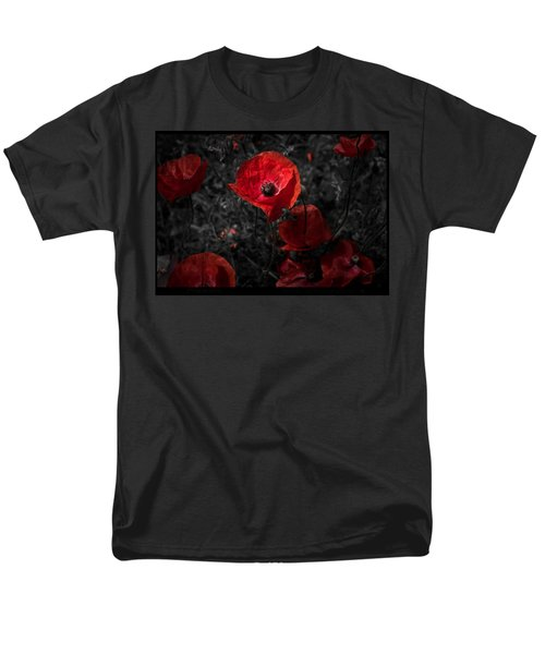 Men's T-Shirt  (Regular Fit) featuring the photograph  Poppy Red by Beverly Cash