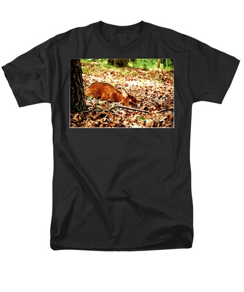 Men's T-Shirt  (Regular Fit) featuring the photograph  Sweet Baby Elk by Peggy Franz