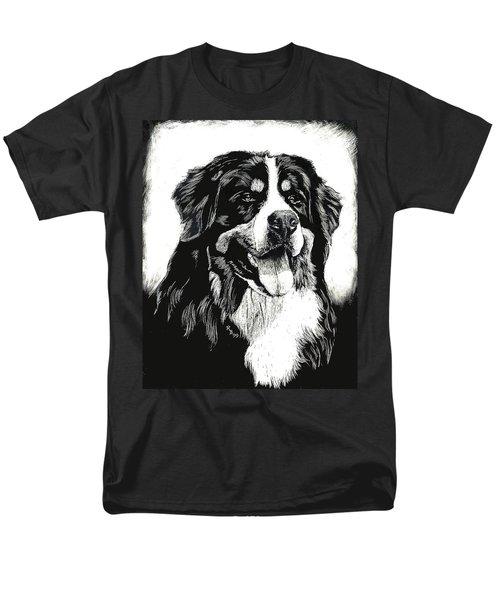 Men's T-Shirt  (Regular Fit) featuring the drawing Bernese Mountain Dog by Rachel Hames