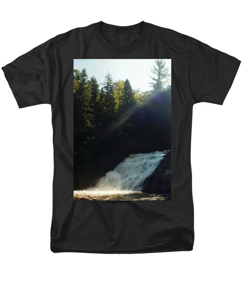 Men's T-Shirt  (Regular Fit) featuring the photograph Morning Waterfall by Stacy C Bottoms