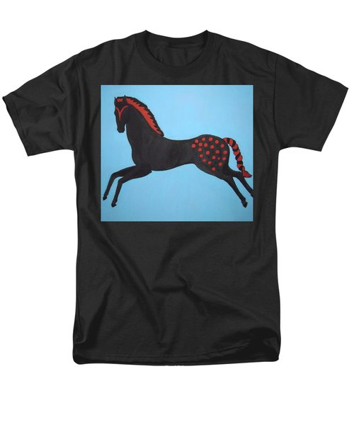 Painted Pony Men's T-Shirt  (Regular Fit) by Stephanie Moore
