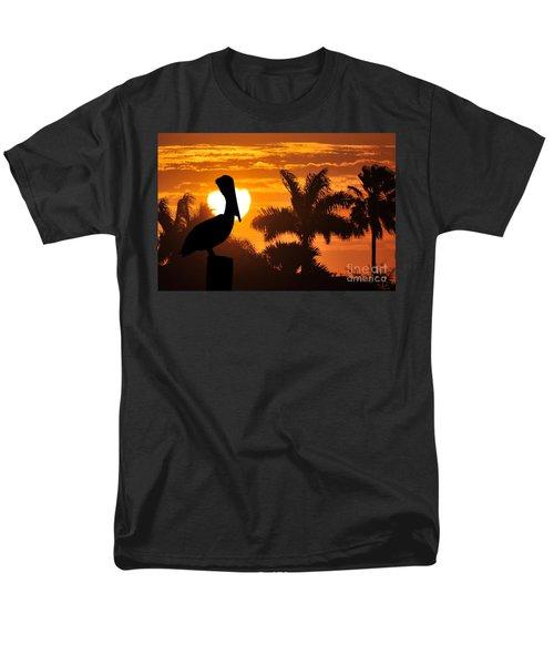 Men's T-Shirt  (Regular Fit) featuring the photograph Pelican At Sunset by Dan Friend
