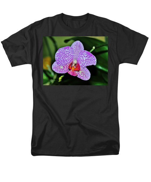 Men's T-Shirt  (Regular Fit) featuring the photograph Purple Orchid by Sherman Perry