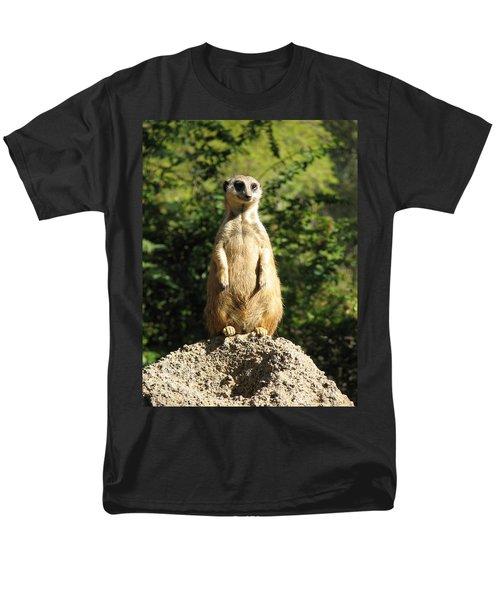 Men's T-Shirt  (Regular Fit) featuring the photograph Sentinel Meerkat by Carla Parris