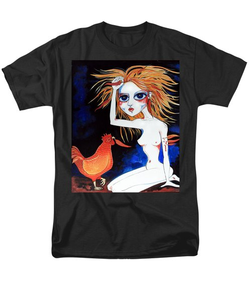 Men's T-Shirt  (Regular Fit) featuring the painting Sorry by Leanne Wilkes