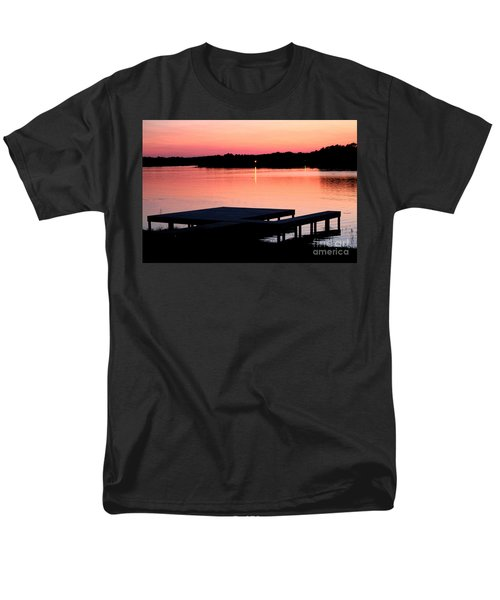 Men's T-Shirt  (Regular Fit) featuring the photograph Sunset View From Dockside by Kathy  White