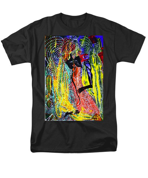 Men's T-Shirt  (Regular Fit) featuring the painting Jesus And Mary by Gloria Ssali
