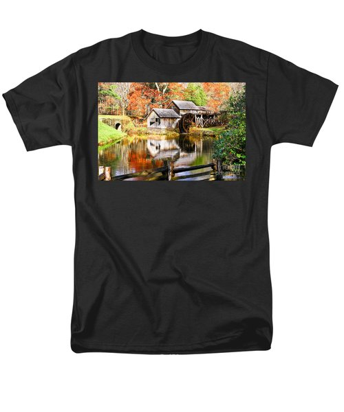 Mabry Mill Men's T-Shirt  (Regular Fit) by Ronald Lutz