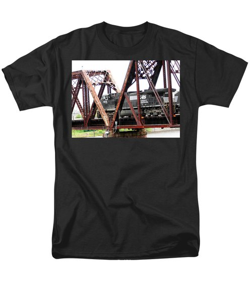 Men's T-Shirt  (Regular Fit) featuring the photograph 9215 Southern Cargo Train by Ester  Rogers