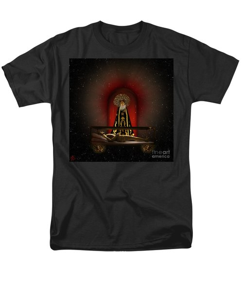 Men's T-Shirt  (Regular Fit) featuring the digital art A Cosmic Drama by Rosa Cobos