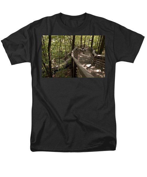 Men's T-Shirt  (Regular Fit) featuring the photograph A Long Way Down by Jeannette Hunt