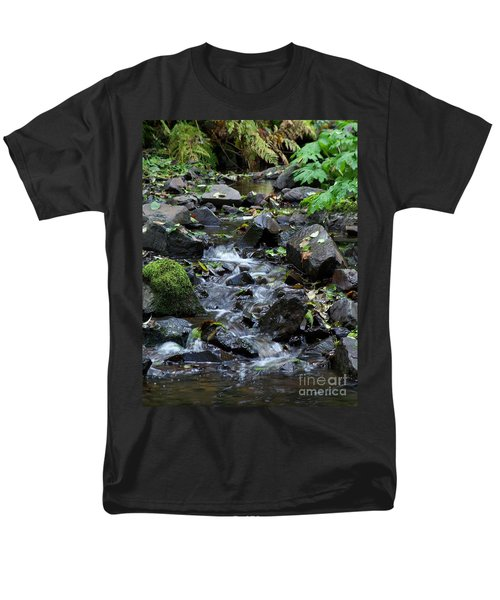 Men's T-Shirt  (Regular Fit) featuring the photograph A Peaceful Stream by Chalet Roome-Rigdon