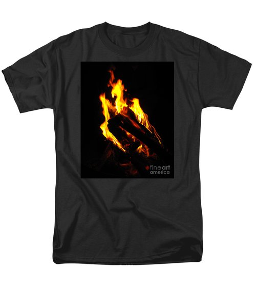 Men's T-Shirt  (Regular Fit) featuring the photograph Abstract Phoenix Fire by Rebecca Margraf
