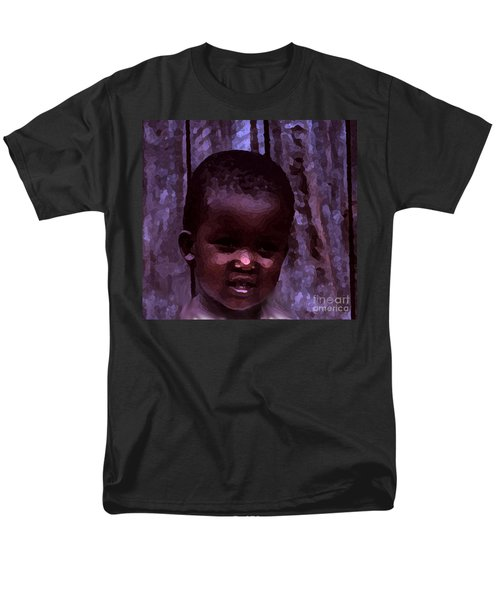 Men's T-Shirt  (Regular Fit) featuring the pyrography African Little Girl by Lydia Holly