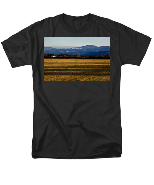 Men's T-Shirt  (Regular Fit) featuring the photograph Afternoon Shadows Across A Rogue Valley Farm by Mick Anderson