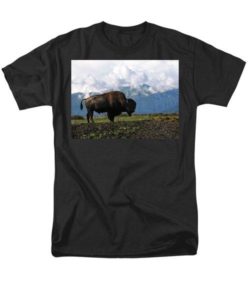 Men's T-Shirt  (Regular Fit) featuring the photograph Alaskan Buffalo by Katie Wing Vigil