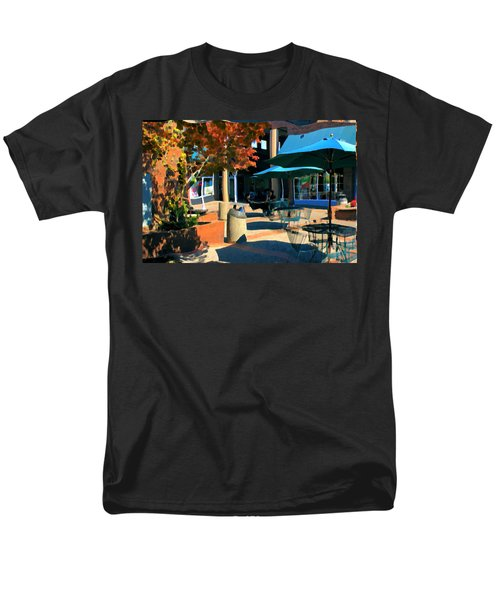 Men's T-Shirt  (Regular Fit) featuring the mixed media Alice's Wonderland Cafe by Terence Morrissey