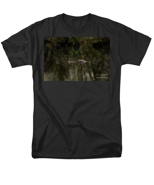 Men's T-Shirt  (Regular Fit) featuring the photograph Alligator In Swamp by Dan Friend