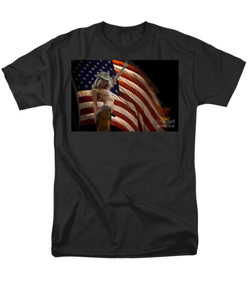 American Cowgirl Men's T-Shirt  (Regular Fit) by Tbone Oliver