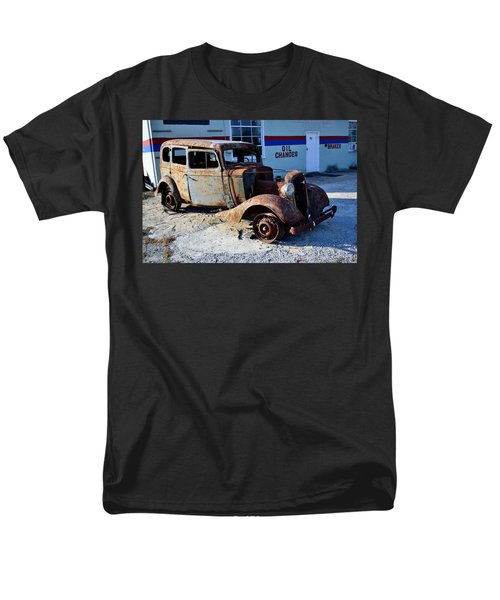 Men's T-Shirt  (Regular Fit) featuring the photograph ...and Rotate The Tires by Larry Bishop