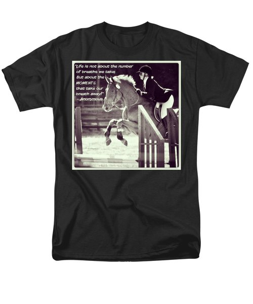 Andy And Chrissy Caber Farm Horse Men's T-Shirt  (Regular Fit) by Anna Porter