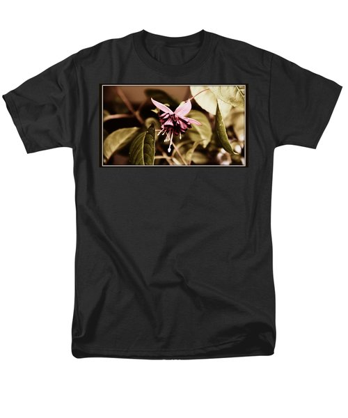 Men's T-Shirt  (Regular Fit) featuring the photograph Antiqued Fuchsia by Jeanette C Landstrom
