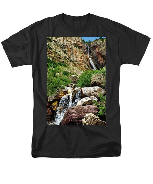 Apikuni Falls Men's T-Shirt  (Regular Fit) by Greg Norrell